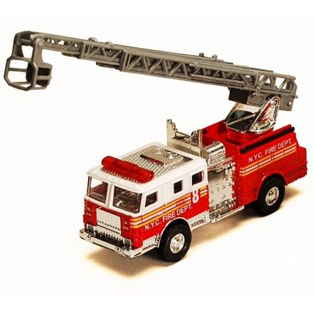 - NYC Fire Engine w/ Rescue Ladder, Red - Showcasts 9923/4D - 4.75 Inch Scale Diecast Model Replica (Brand New, but NOT IN BOX)