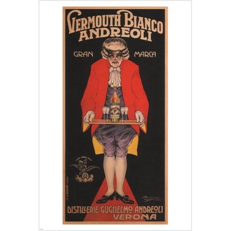 Vermouth Bianco Andreoli Vintage Poster A Bresciani 1919 Italy 24X36