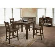 Myco Furniture EM300-CC 42 x 22 x 19 in. Emeline Counter Chair, Rustic Oak - Set of 2