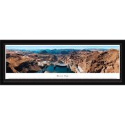 Hoover Dam - Looking Downstream - Blakeway Panoramas Print with Select Frame and Single Mat