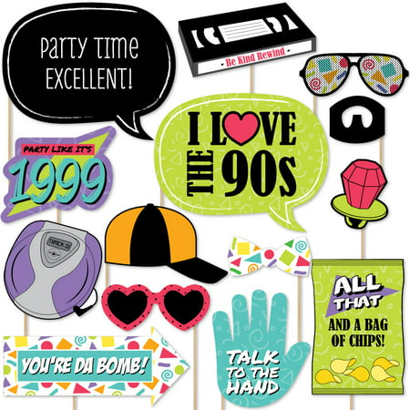 90's Throwback - 90's Party Photo Booth Props Kit - 20 Count](80's Photo Booth Ideas)
