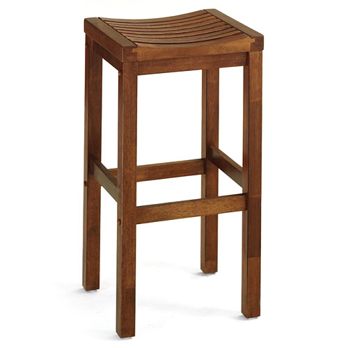 "Home Styles Solid Wood Bar Stool 29"", Oak Finish"