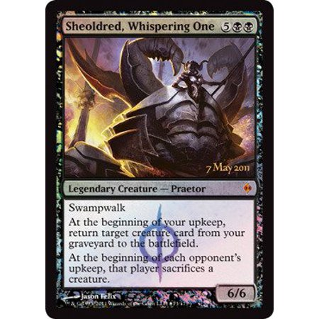 Pre Release Promo Foil (Magic: the Gathering - Sheoldred, Whispering One - Prerelease & Release Promos - Foil, A single individual card from the Magic: the Gathering.., By Magic the Gathering Ship from US )