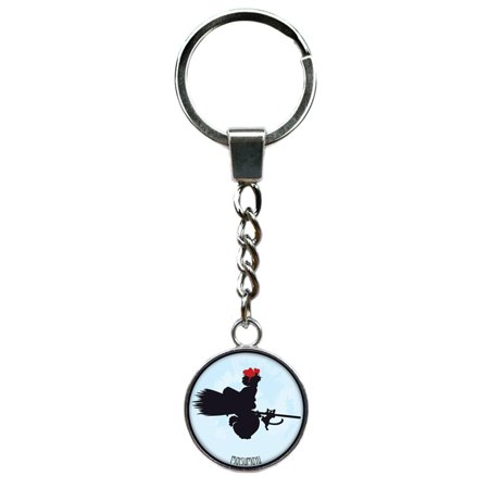 Kiki's Delivery Service Keychain Key Ring Anime Manga TV Comics Movies Cartoon Superhero Logo Theme Premium Quality Detailed Cosplay Jewelry Gift - Superhero Cosplay For Sale