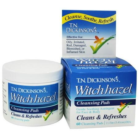 Dickinson Brands - T.N. Dickinson's Witch Hazel Cleansing Pads - 60 Pad(s) Dickinsons Witch Hazel Astringent