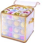 Simplify 64-Count Christmas Holiday Ornament Organizer - Gold