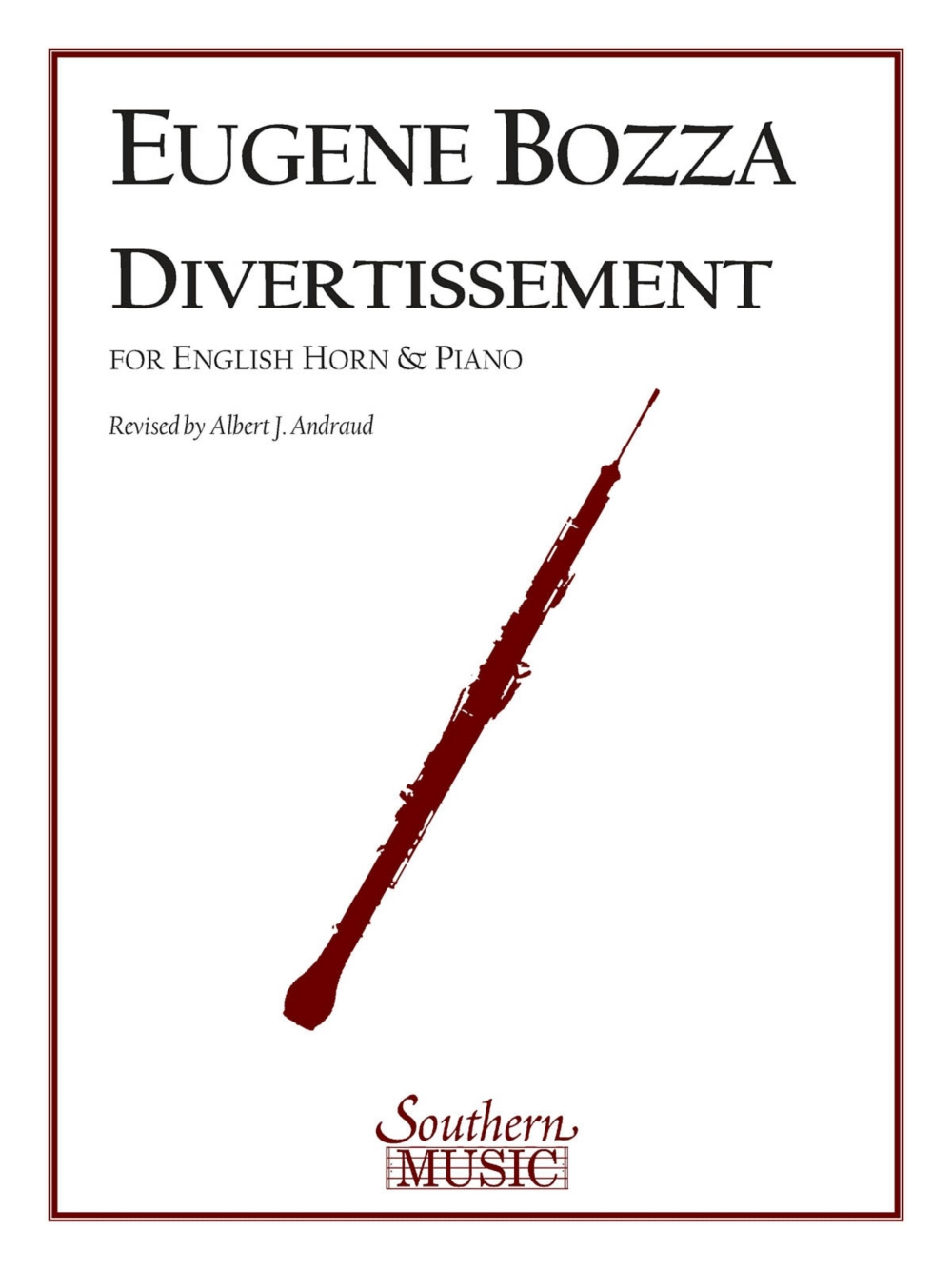 Southern Divertissement (English Horn) Southern Music Series Composed by Eugene Bozza by Southern