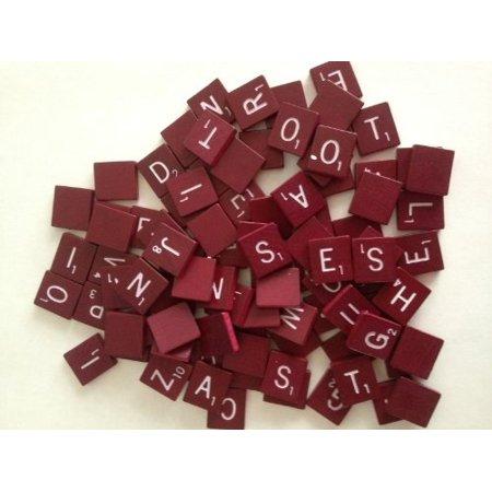 red maroon scrabble tiles (Old Scrabble Tiles)