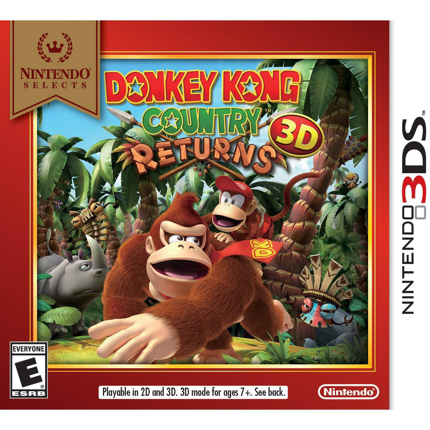 Donkey Kong Country Returns - Nintendo Selects (Nintendo 3DS)