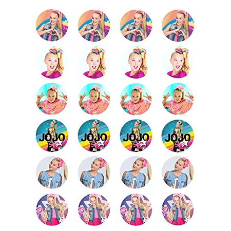 Jojo Siwa ~ Two Dozen ~ Cupcake Topper ~ Edible Frosting  Cupcake Toppers - Spiderman Cupcake Topper