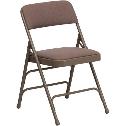 Hercules Hinged Fabric Padded Folding Chair - 4-Pack, Beige