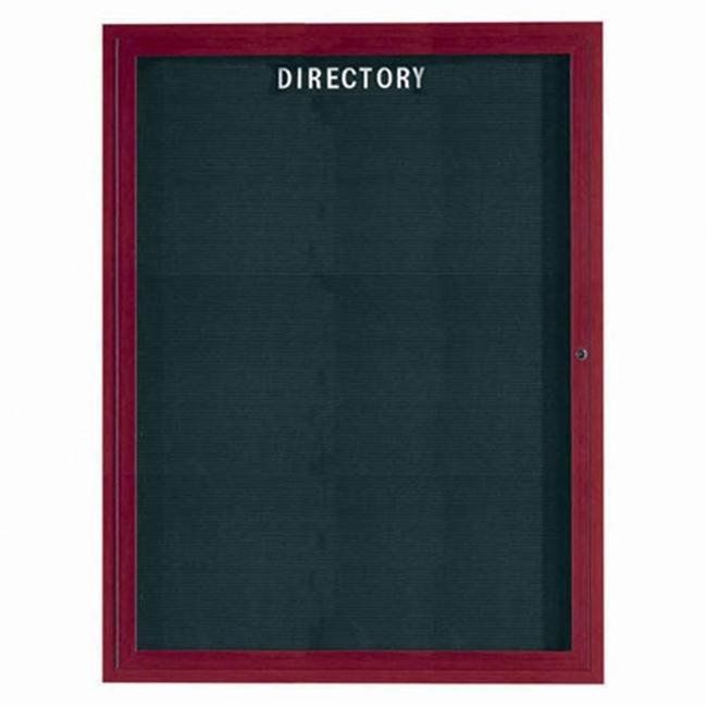 Aarco Products OADCW4836R 48 inch H Outdoor Enclosed Aluminum Directory Cabinet - Cherry