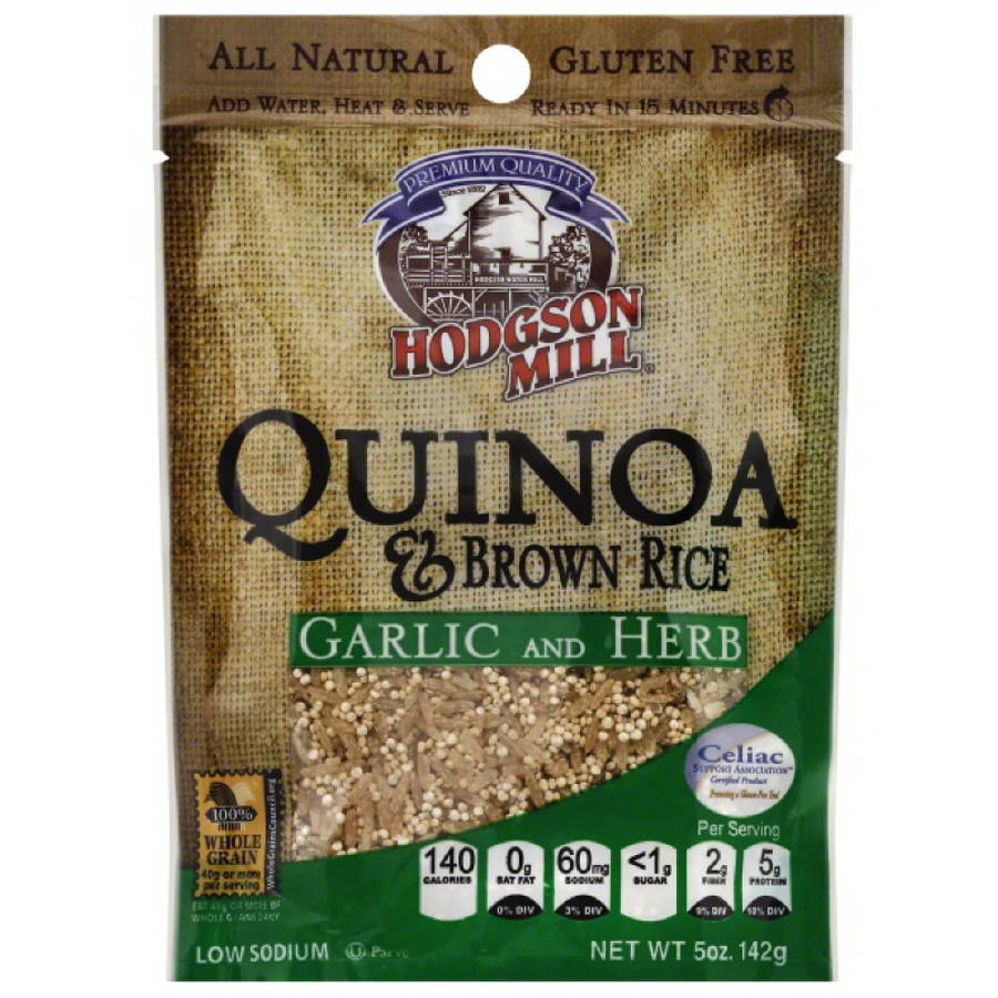 Hodgson Mill Garlic and Herb Quinoa & Brown Rice, 5 oz, (Pack of 10)