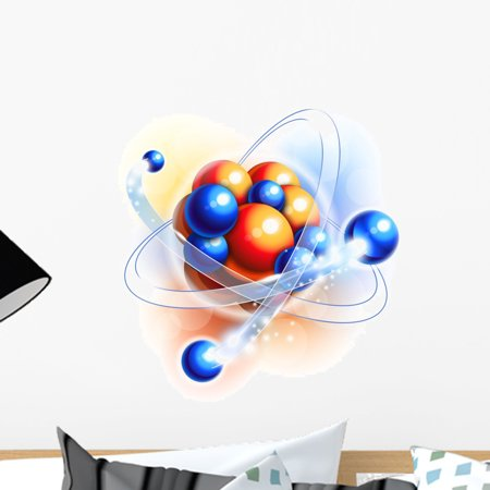 Molecule Atoms and Particles Wall Mural Decal by Wallmonkeys Vinyl Peel and Stick Graphic (18 in W x 18 in