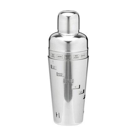 Kraftware - Polished Stainless Steel 32 Oz. Recipe Cocktail Shaker