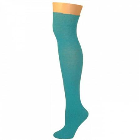 Knee High Socks - Turquoise - Turquoise Knee High Socks