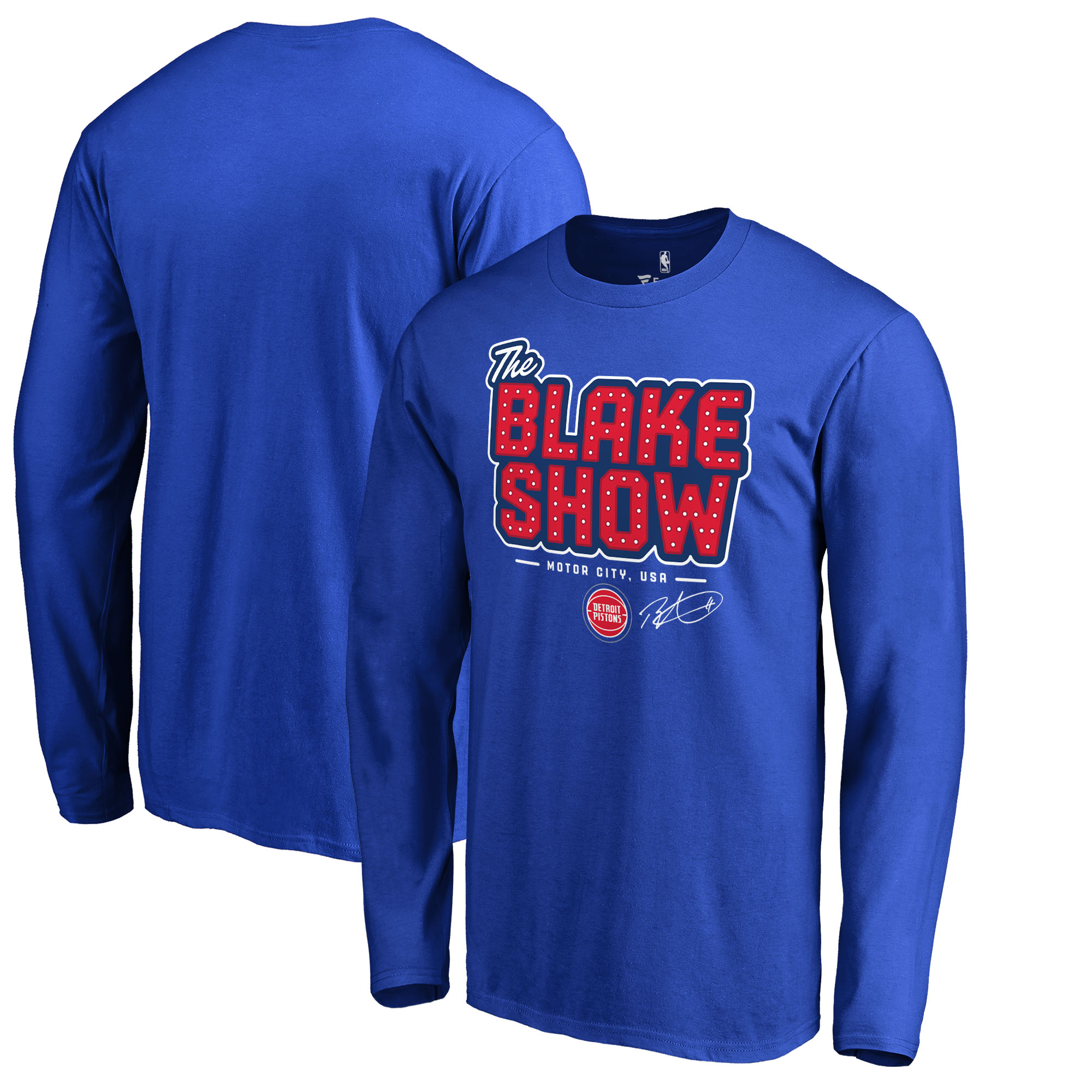 Blake Griffin Detroit Pistons Fanatics Branded Hometown Collection The Blake Show Long Sleeve T-Shirt - Royal