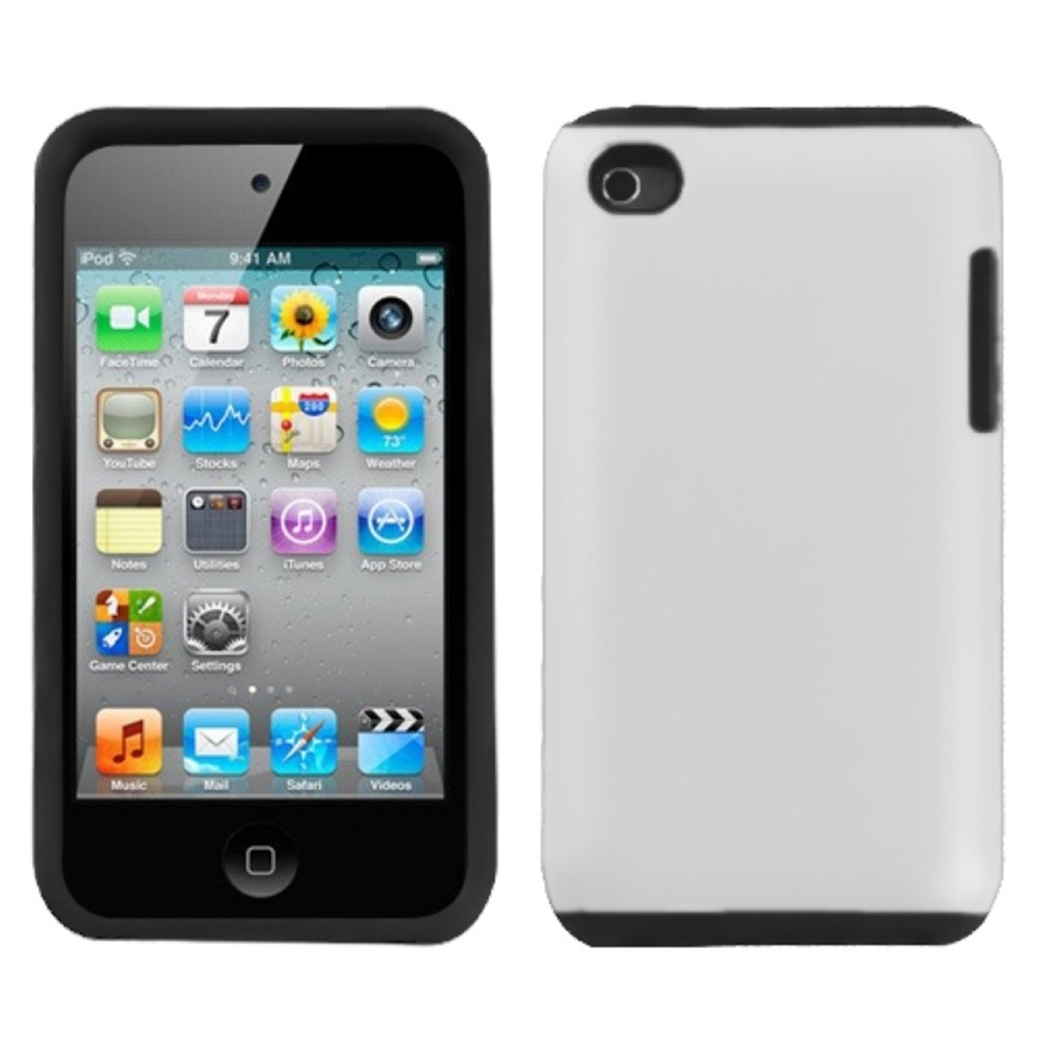Insten White Fusion Case (Rubberized) for APPLE: iPod touch (4th Gen)