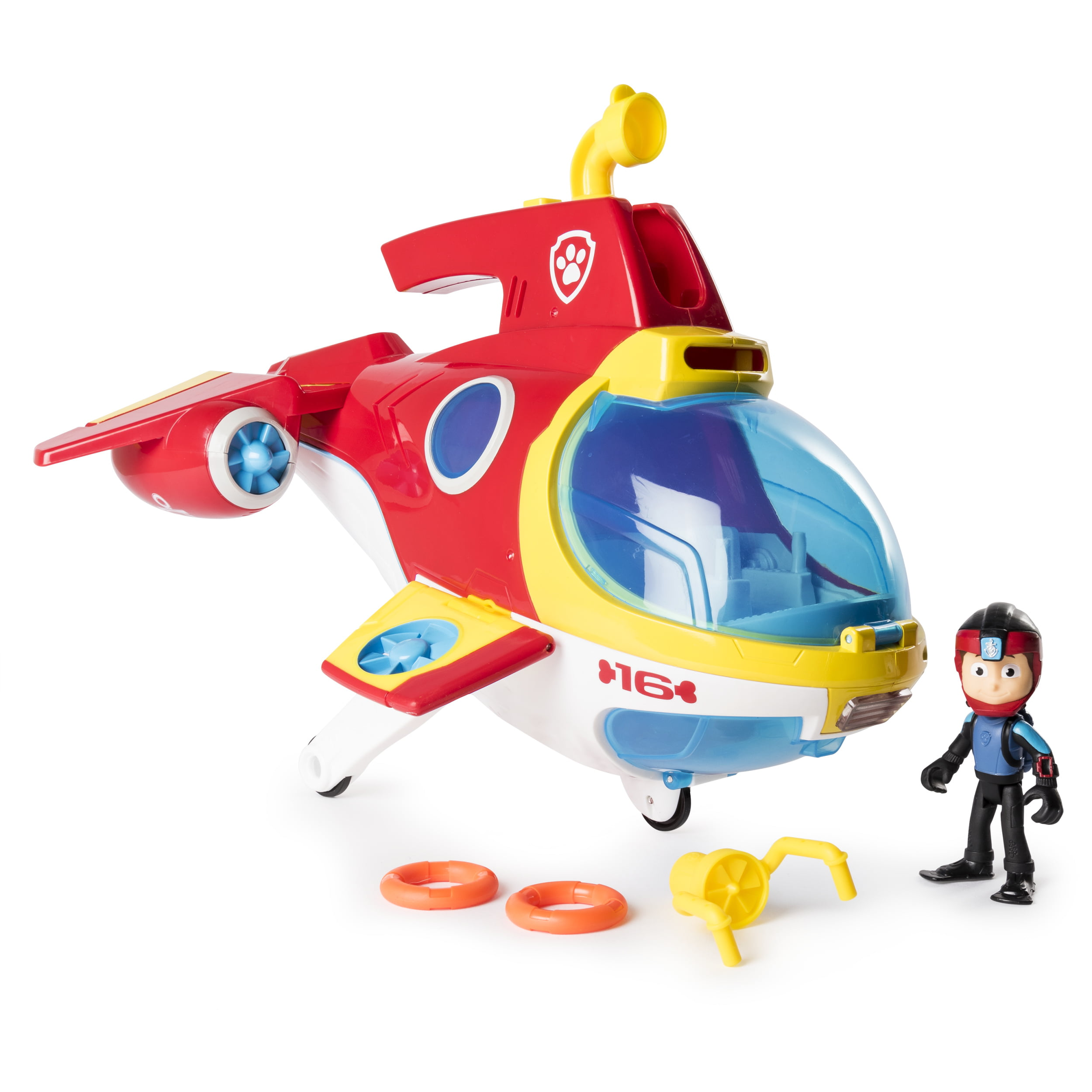 08cfdb8f4f PAW Patrol - Sub Patroller Transforming Vehicle with Lights, Sounds and  Launcher - Walmart.com
