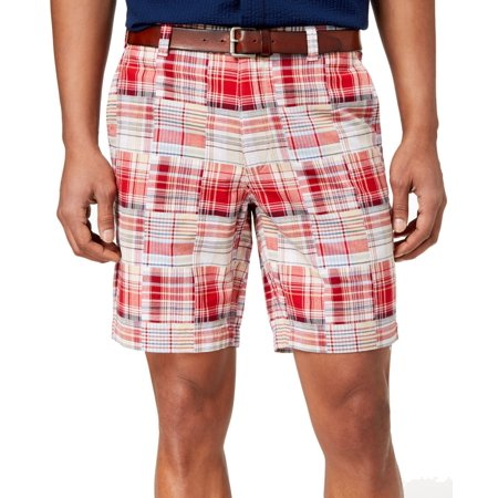 Club Room Mens Plaid Print Classic Fit Madras Shorts](Plaid Madras Shorts)