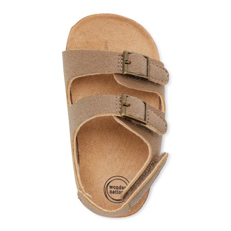 Wonder Nation Two Buckle Footbed Sandals (Infant Boys)