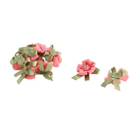 Lady Dress Clothes Hat Decoration Acrylic Corsage DIY Flower Coral Pink 10 Pcs - Corsage Diy