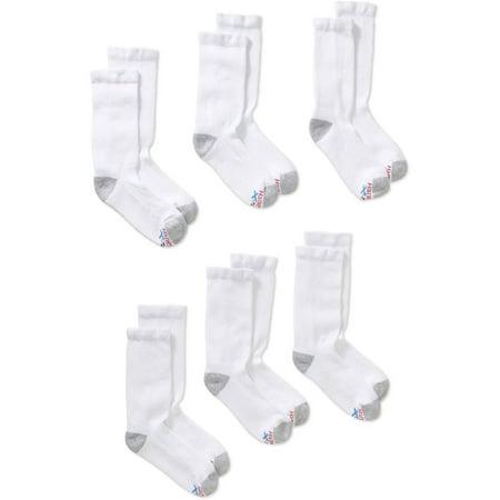 Hanes Men's Ultimate X-Temp White Crew Socks, 5 + 1 Bonus Pack
