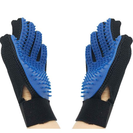 2 Pack Cleaning Brush Magic Gloves Pet Dog Cat Massage Hair Removal Grooming L