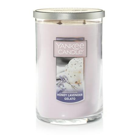 Yankee Candle Honey Lavender Gelato - Large 2-Wick Tumbler Candle - Lavender Vanilla Candles