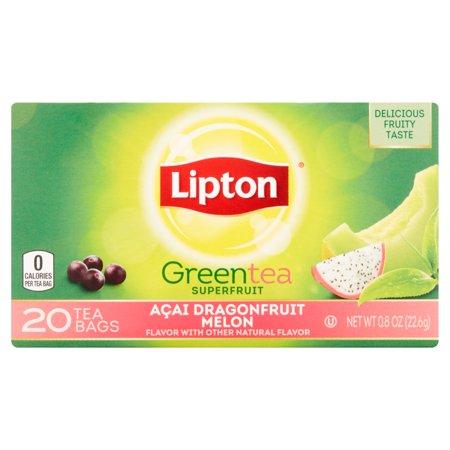 Lipton Dragonfruit Melon Sacs de thé vert, 20 ct