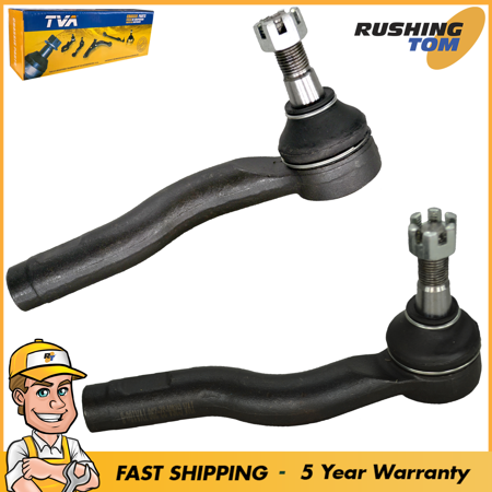 Set of 2 Front Outer Steering Tie Rod Ends For Mazda 6 03-08 Left & Right Pair