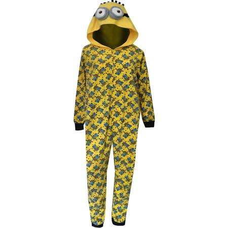 Despicable Me - Despicable Me Minion Hooded Plus Size Onesie Pajama -  Walmart.com f2aaff905