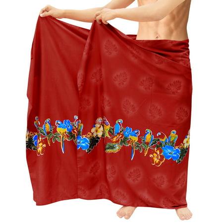 cc579cc3acfb27 LA LEELA - Vintage Casual Aloha Beachwear Wrap Swimwear / Sleepwear ...
