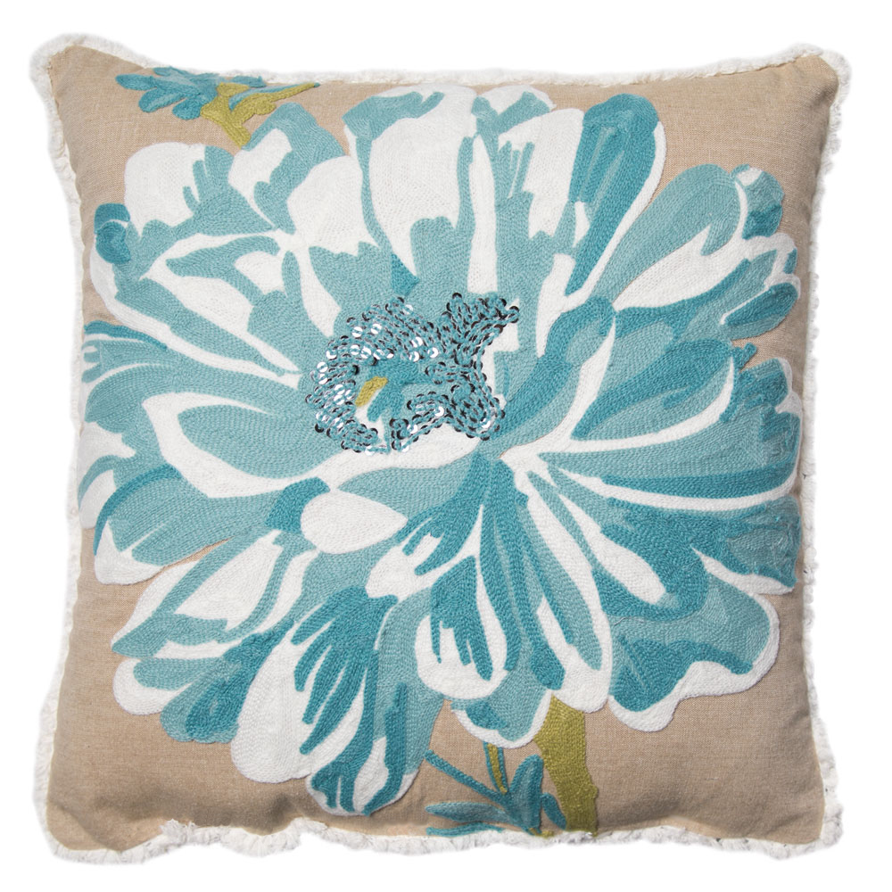 "Better Homes and Gardens Bold Bloom Accent Pillow, Coral, 17"" x 17"""