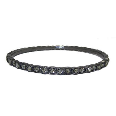 Designer Jewelry 9627HBD-M Designer Bangle Bracelet Gunmetal