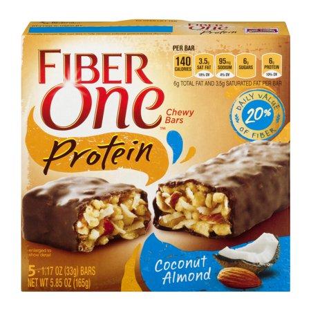 Fiber One Protein Chewy Bar Coconut Almond 5   1 17 Oz Bars