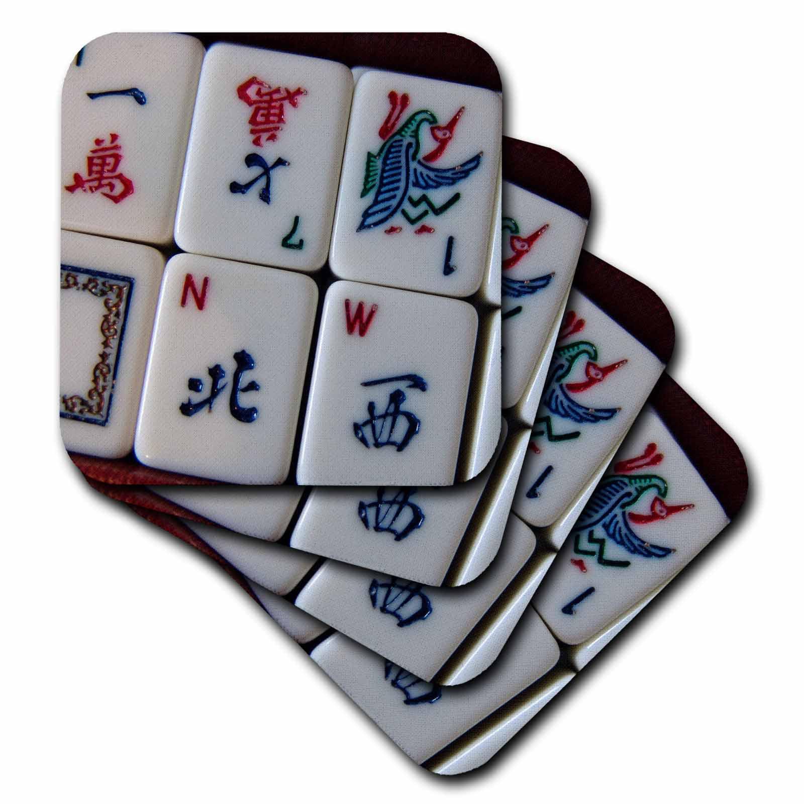 3dRose Luv Mah Jongg, Ceramic Tile Coasters, set of 4 by 3dRose