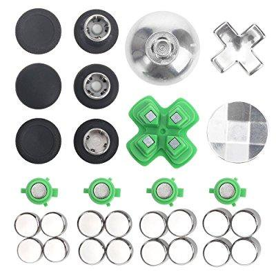 elementdigital xbox one controller thumbsticks replacement parts buttons  kits for xbox one, xbox one elite controller, ps4 controller, nintendo  switch