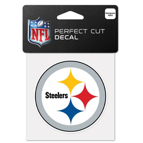 Pittsburgh Steelers Official NCAA 4 inch x 4 inch  Die Cut Car Decal by Wincraft