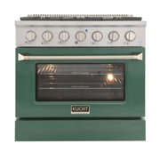 36 In. 5.2 Cu. Ft. Gas Range With Convection Oven And Green Door