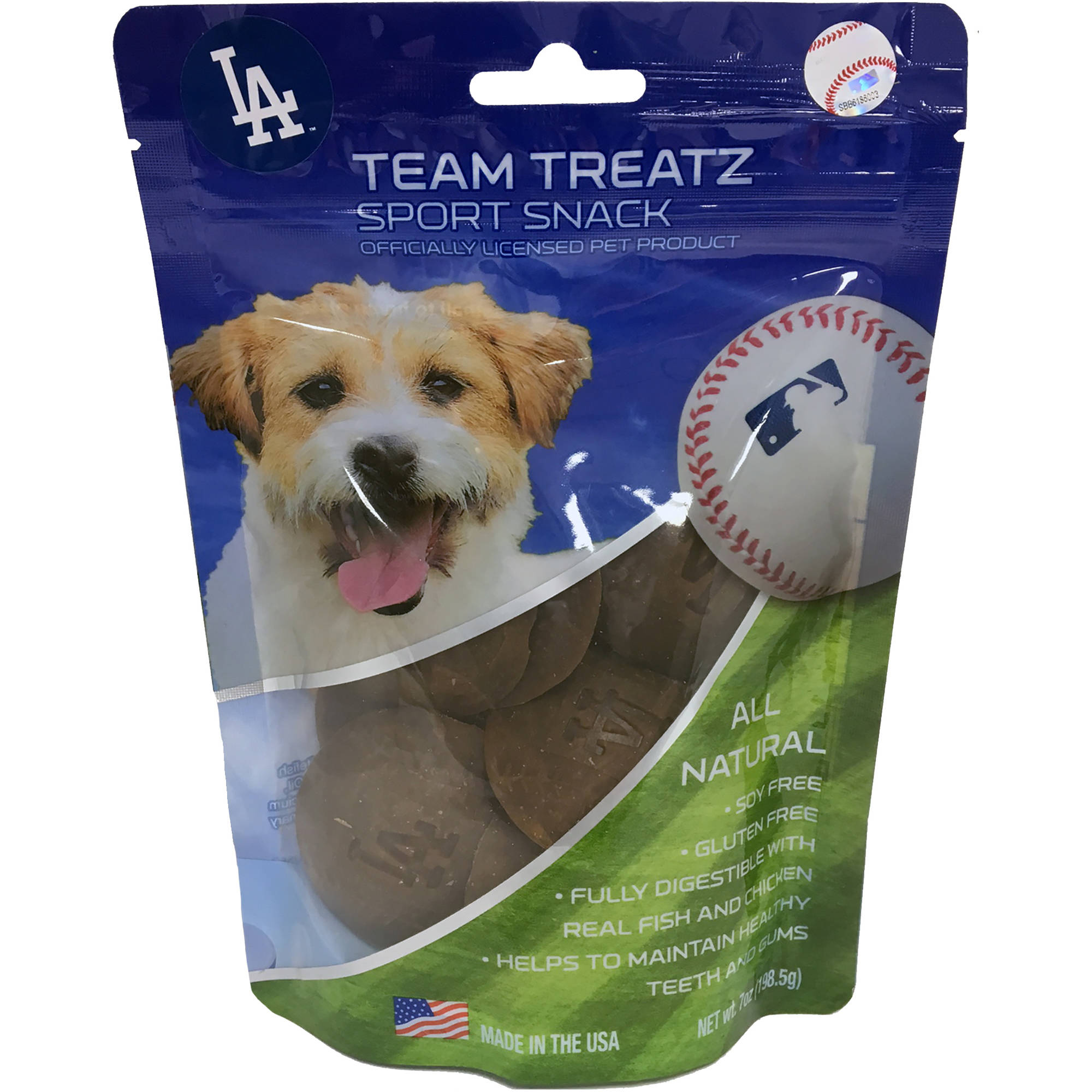 Pets First MLB Los Angeles Dogers Baseball Dog Treats, Delicious Cookies for Dogs, Baseball Reward for the Sporty PUP