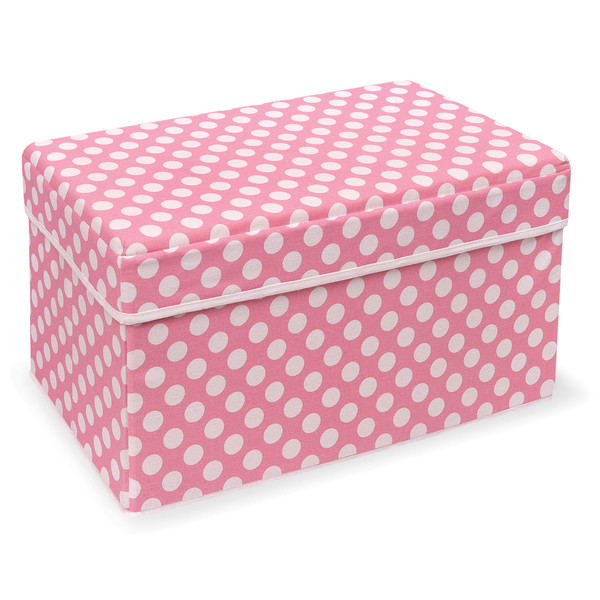 Badger Basket Company Double Folding Storage Seat, Pink by
