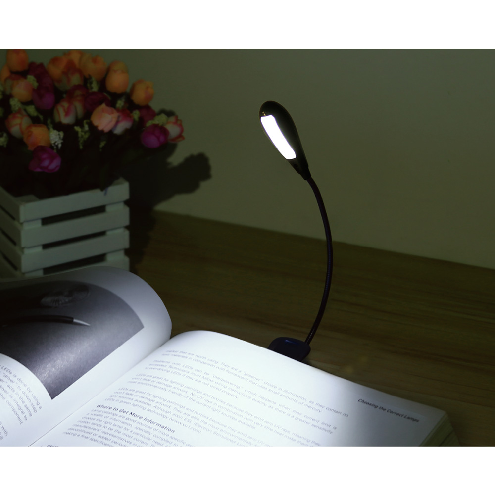 Lighting EVER Rechargeable LED Book Light, Portable Music Stand Lights, 300LUX, Dual Head, 2-Level Brightness, Daylight... by Home EVER Inc.