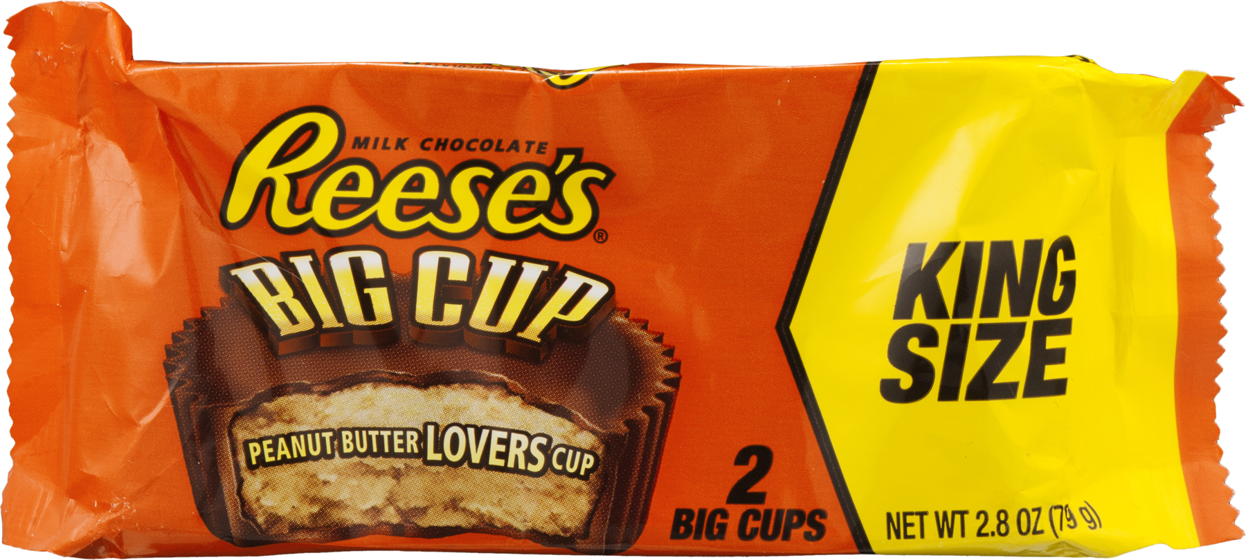 REESE'S King Size Big Cup Peanut Butter Cups, 2.8 oz - Walmart.com