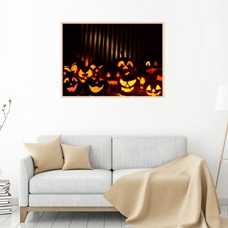 AngelCity Halloween DIY 5D Diamond Painting Cross Stitch Painting by Number Kits for Home Party Decor Halloween Full Diamond Painting