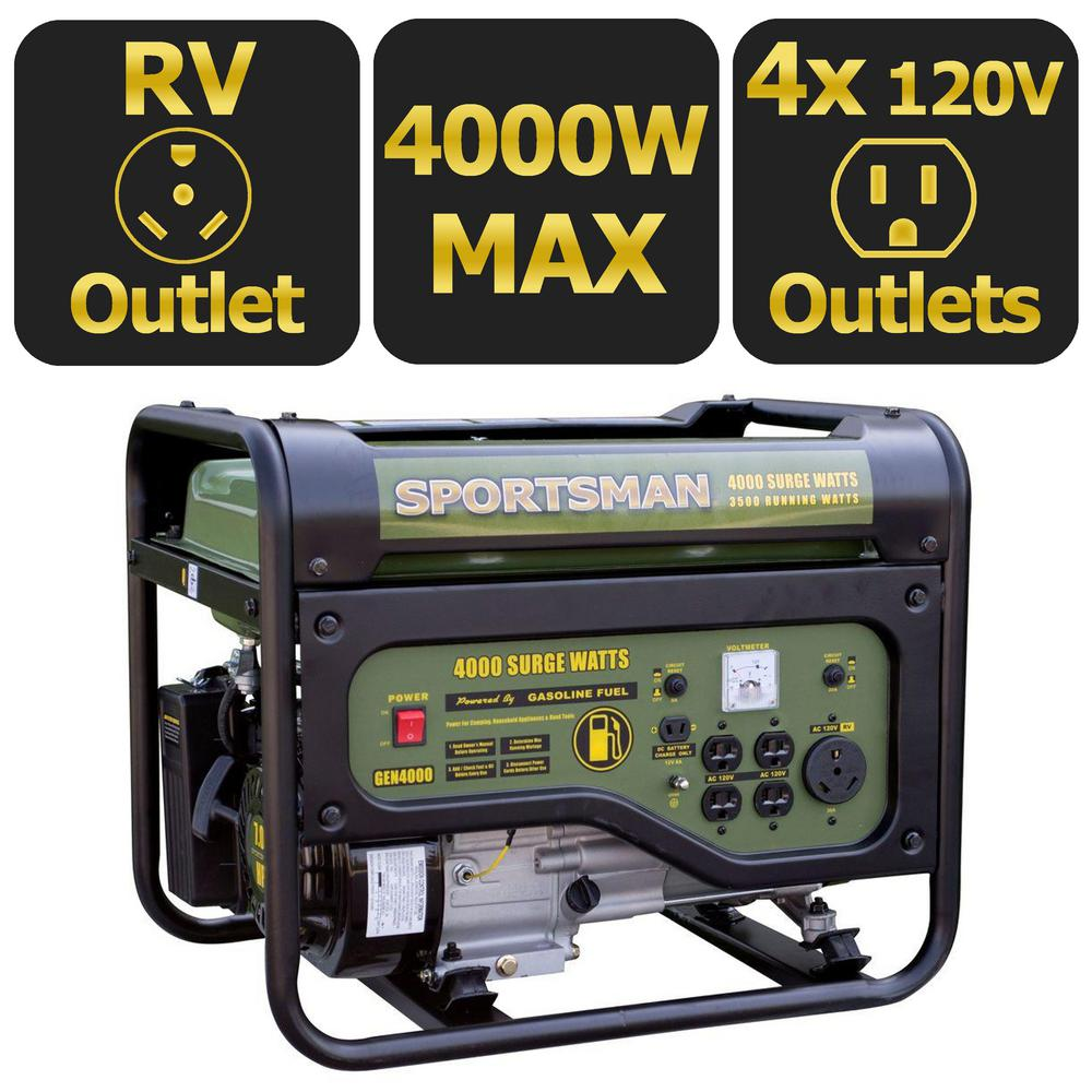 Click here to buy Sportsman Gasoline 4000W Portable Generator by Buffalo Corp.