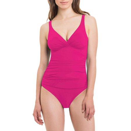 Tutti Frutti One-Piece Twist-Front Swimsuit
