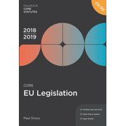 MacMillan Core Statutes: Core Eu Legislation 2018-19 (Edition 3) (Paperback)