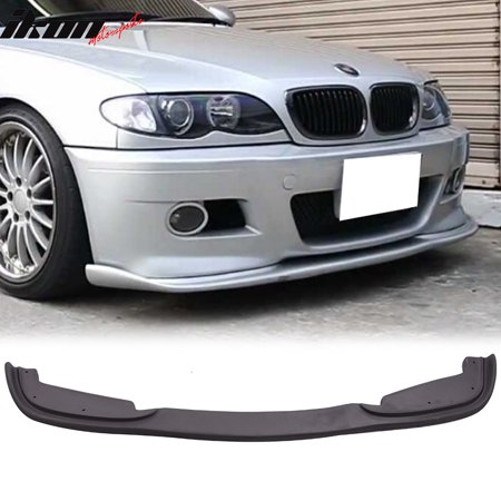 Fits 99 06 Bmw E46 3 Series H Style Pp Front Bumper Lip For Aftermarket M Bumper