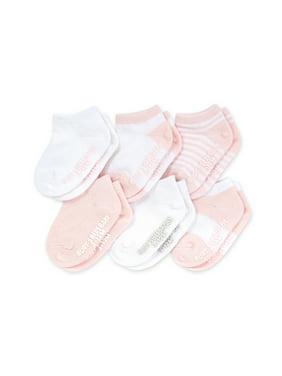Burt's Bees Baby Girls Socks, 6-Pack Multi Ankle